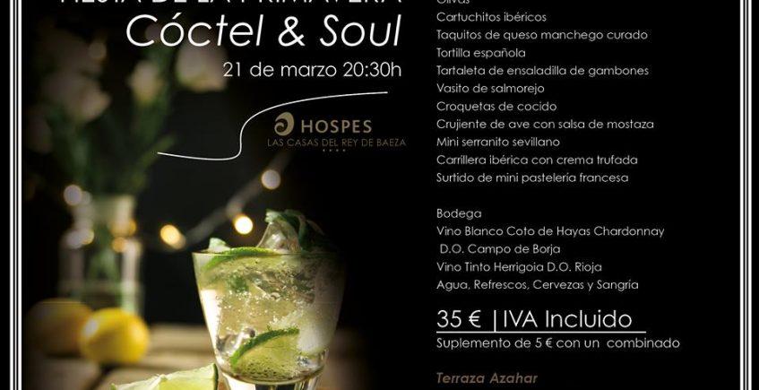 21 de marzo. Sevilla. Fiesta de la Primavera, Cóctel & Soul en Las Casas del Rey.