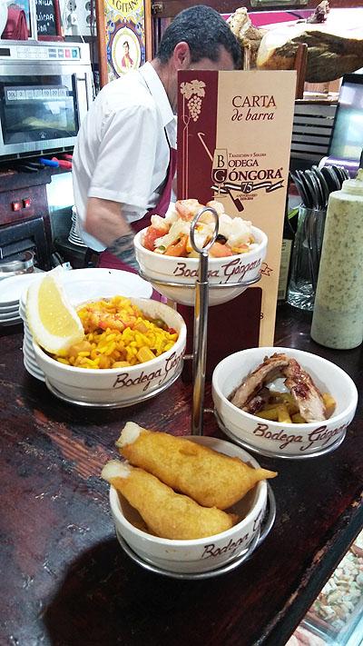 Así se sirven los menús de tapas en el Góngora. Foto: Cosasdecome