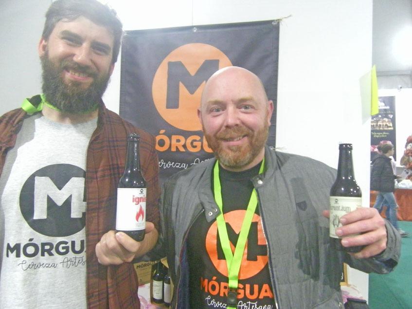 Antonio Guadix y David Moreno han puesto en marcha Cervezas Morgual. Foto: Cosasdecome