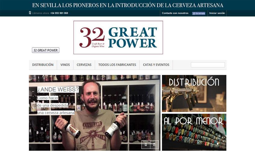 Portada de la tienda virtual de 32 Great Power.