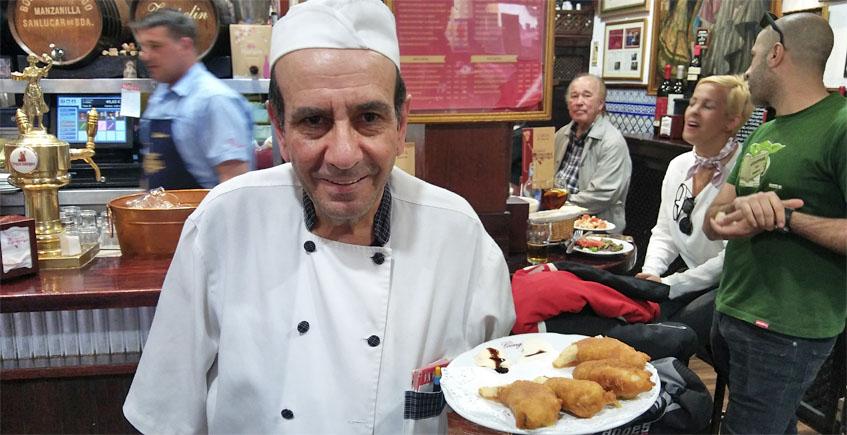 Ramiro Expósito, el jefe de cocina de Bodegas Góngora. Foto: Cosasdecome
