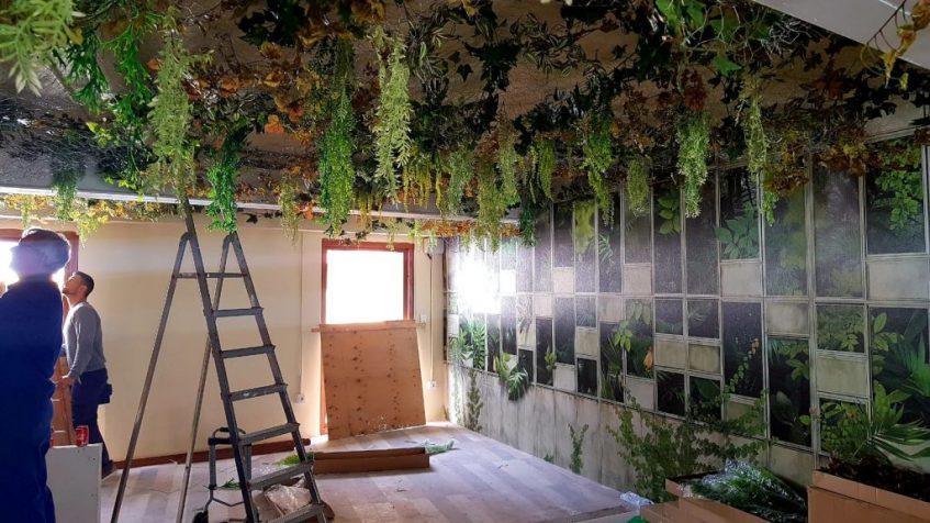 El 'Jardín del Burro', última planta del nuevo local. Foto cedida por el establecimiento.
