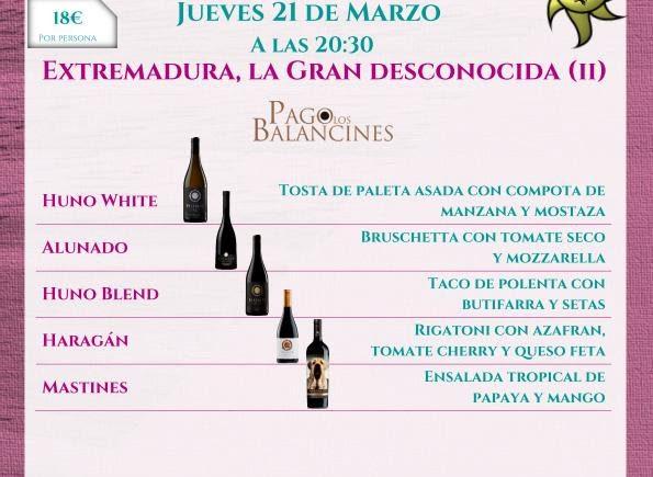 21 de marzo. Sevilla. Cata vinos extremeños en Lama La Uva