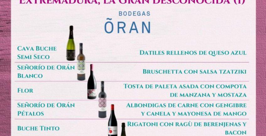 14 de marzo. Sevilla. Cata-maridaje vinos extremeños.