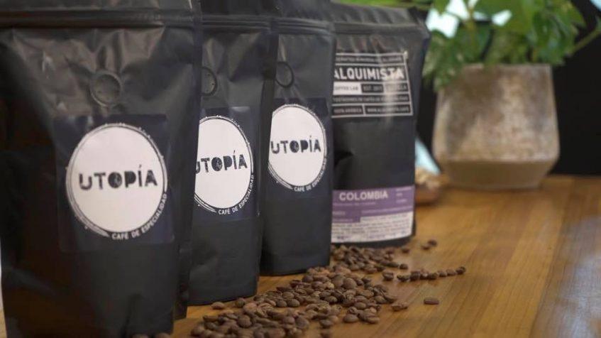 Café en grano de Utopía. Foto cedida por el establecimiento.