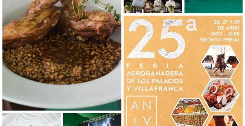 Demostraciones gastronómicas en vivo, venta de tomates y catas en la Feria Agroganadera de los Palacios