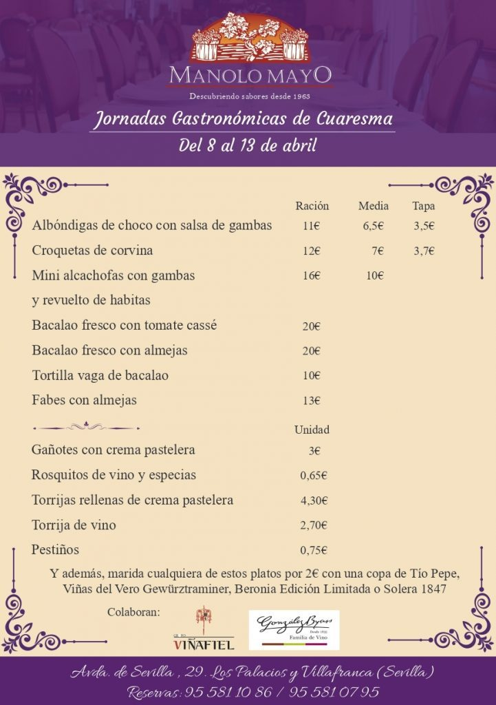 Jornadas de Cuaresma en Manolo Mayo. Foto cedida