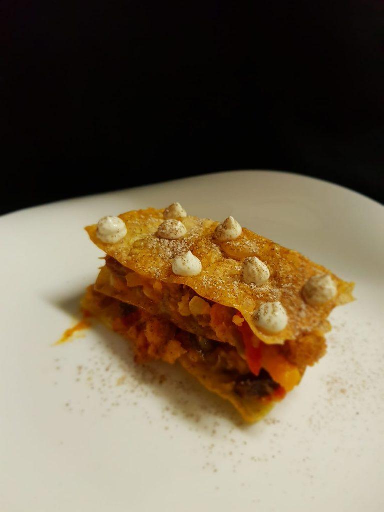 Pastela de bacalao a la gallega, una de las novedades de las tapas de Dmercao. Foto cedida por el establecimiento.