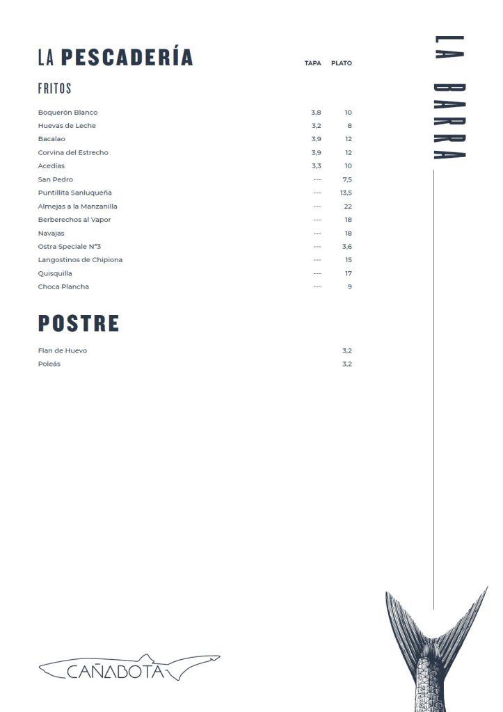 Carta barra cañabota 2