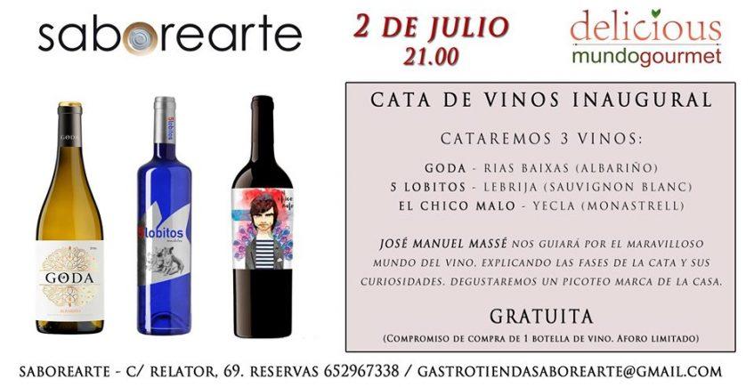 Cata inaugural Saborearte. 2 de julio. Sevilla.
