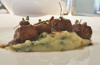 Huevas de atún al Jerez, uno de los platos del menú degustación de Tribeca. Foto: Cosasdecome