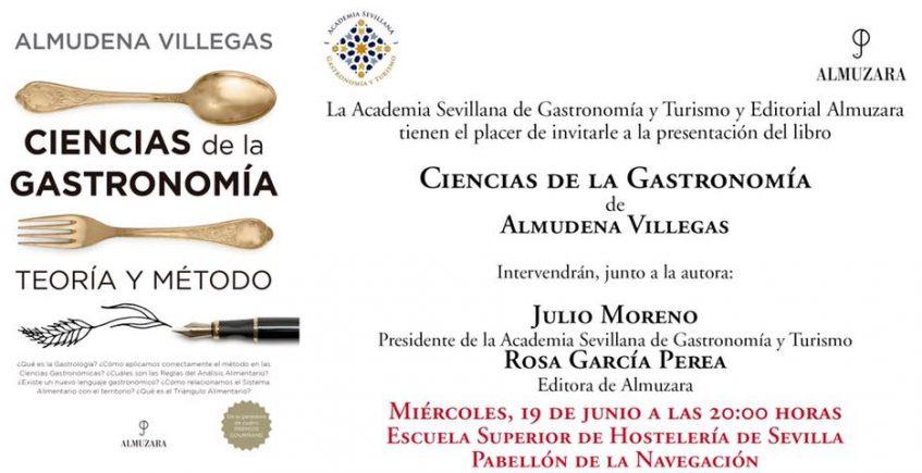 Presentación libro Ciencias de la Gastronomía. 19 de junio. Sevilla.