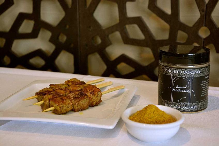 Las especias para pinchitos morunos de atún, una de las especialidades de Especias Alhucemas. Foto: Cedida por el establecimiento.