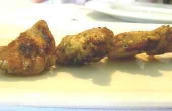 Los pinchitos morunos del restaurante Alhucemas