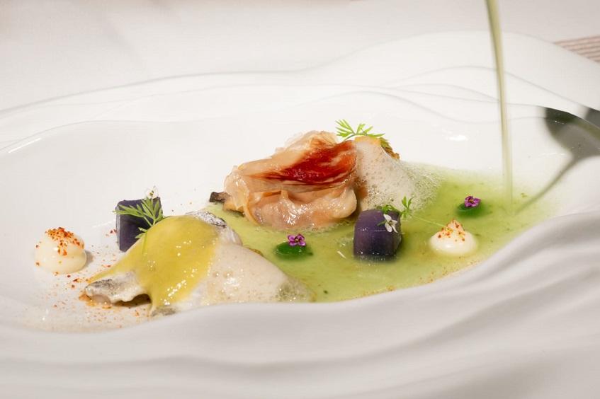 La sopa viña AB versiionada por Manuel Bentabol. Foto: Cedida por el cocinero
