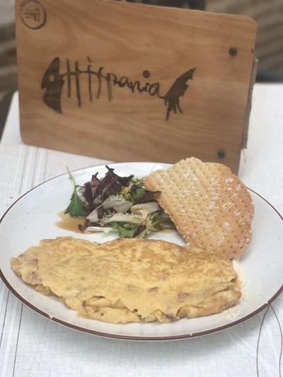 La tortilla meneona del Hispania. Foto: Cedida por el establecimiento