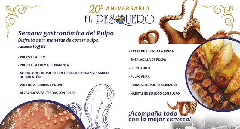 Semana Gastronómica del Pulpo en el Pesquero. Del 25 al 30 de junio. Sevilla.