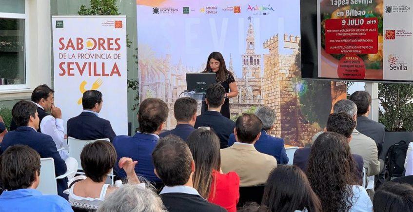 La provincia de Sevilla se promociona en Bilbao como destino gastronómico y de eventos