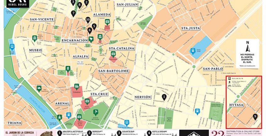 Sevilla Craft Beer Map lanza una nueva versión actualizada de su mapa de cervezas artesanas