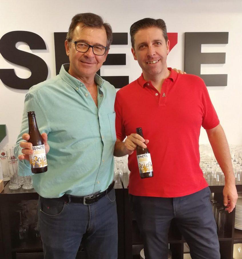 Miguel Ángel Plaza y Luis Miguel Luque también son rancios con tirón. El primero de ellos es el alquimista que ha conseguido la fórmula de la cerveza. Foto cedida por el equipo de Rancia.