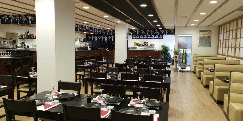 Interior del nuevo japonés Oshiro, ubicado en las instalaciones del antiguo Marisco Rojo. Foto cedida por el establecimiento.