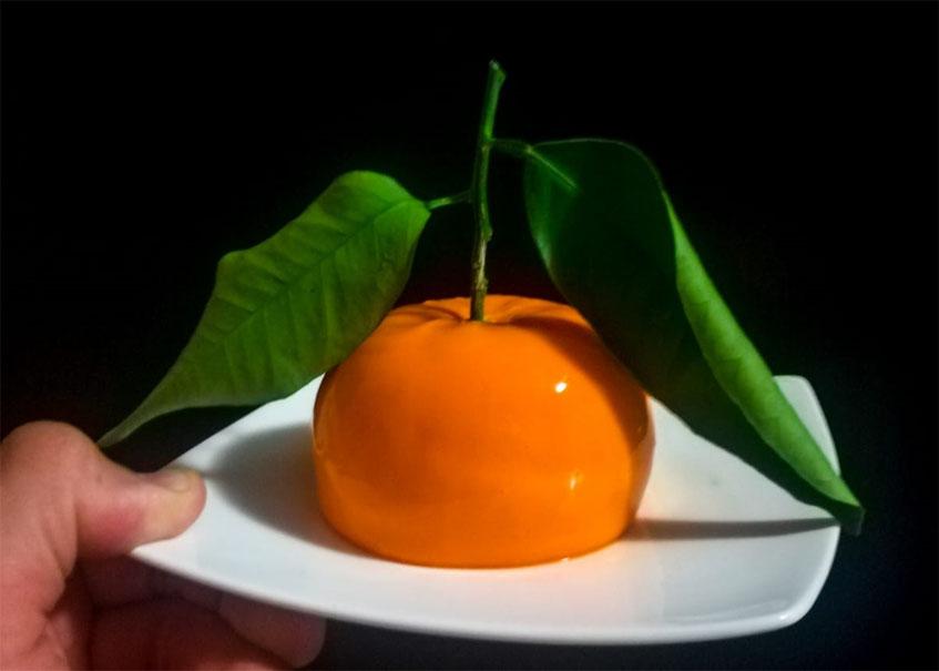 La tarta de queso de Panrallao parece una naranja sevillana. Foto: Cedida por el establecimiento