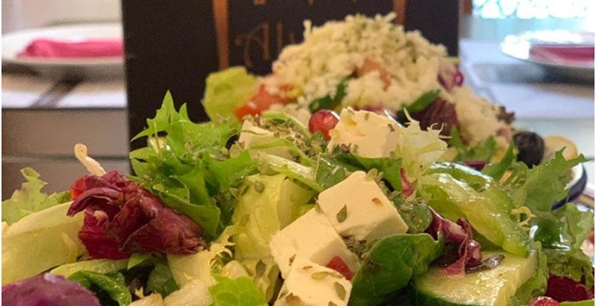 Una de las ensaladas de Alwadi. Foto: Alwadi