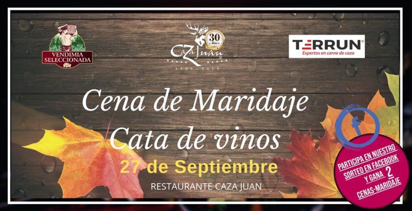 Cena de maridaje Cata de Vinos. 27 de septiembre. Sevilla.