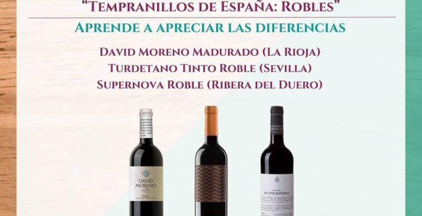 Cata de vinos en Tempranillos de España. 20 de septiembre. Sevilla