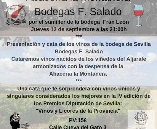 Cata de Bodegas F. Salado en el Abacería La Montanera