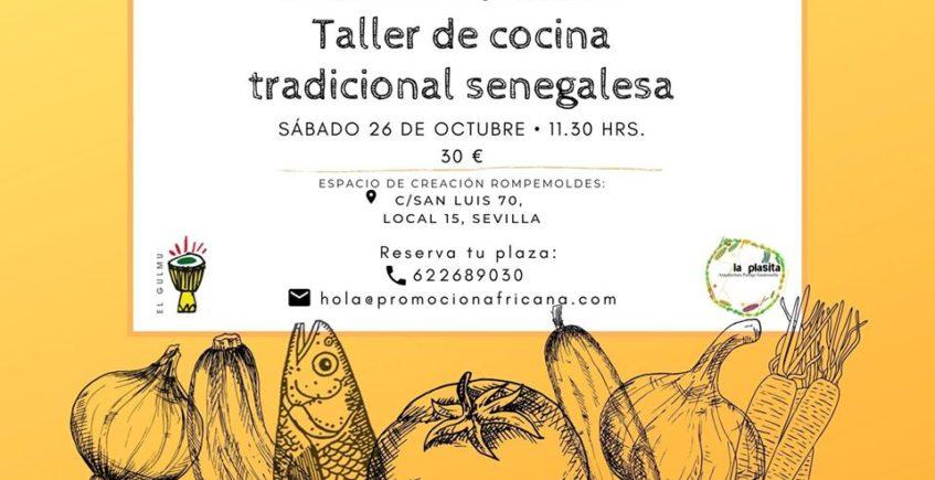 Taller de cocina senegalesa. 26 de octubre. Sevilla.