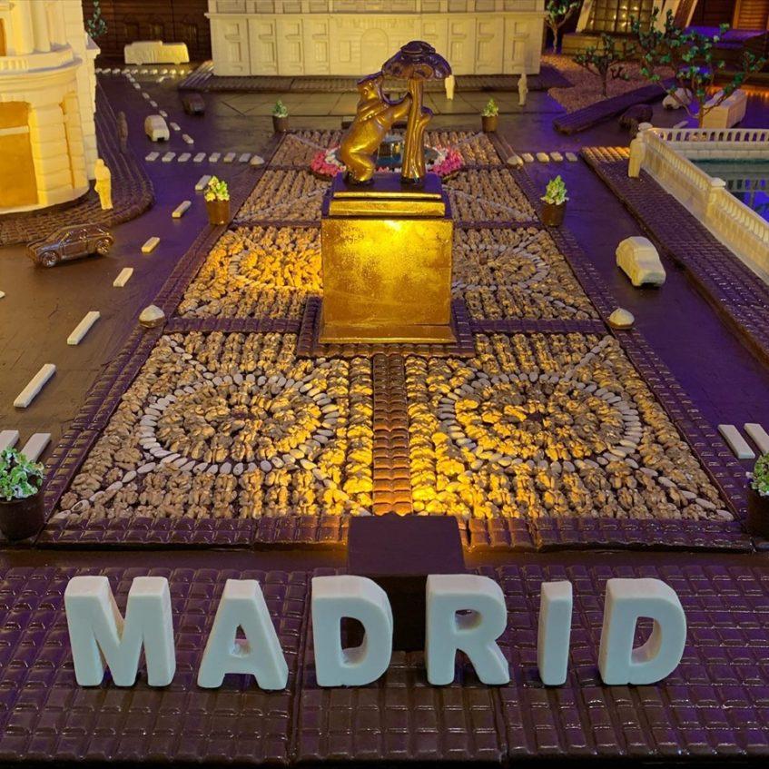 La Madrid de chocolate de La Estepeña se extiende a lo largo de 150 metros cuadrados. Foto cedida por el establecimiento.