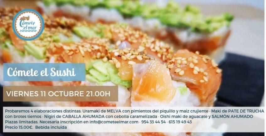 Taller y degustación de sushi. 11 de octubre. Sevilla.