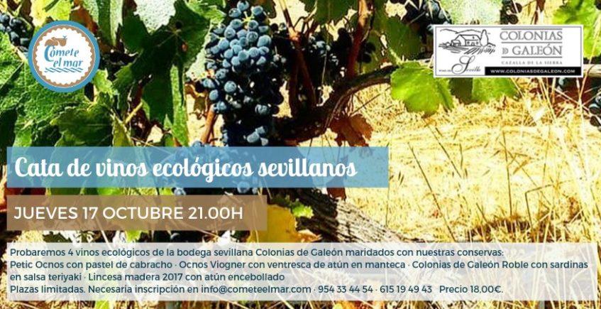 Cata de vinos ecológicos sevillanos. 17 de octubre. Sevilla.