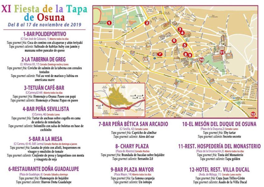 Oferta de tapas y establecimiento de la Fiesta de la Tapa de Osuna. Foto cedida por el Ayuntamiento.