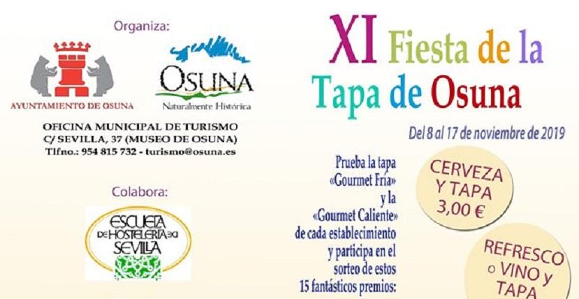 Osuna celebra su XI Fiesta de la Tapa con la participación de doce bares y restaurantes