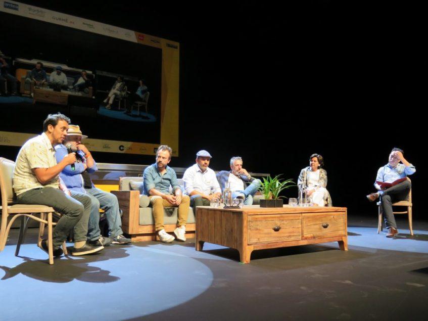 Debate sobre cocina creativa con Sacha, Francis Paniego, Pepe Solla, David Yarnoz, Nacho Manzano y Jesús Sánchez. Foto: CosasDeComé