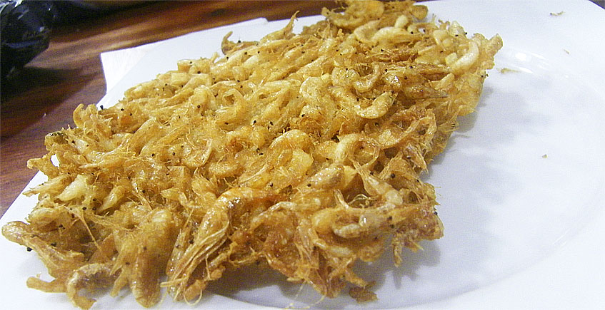 Las tortillitas de camarones del bar Amarra