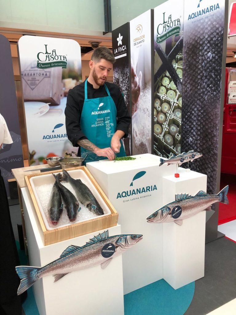 La lubina canaria de Aquanaria desea consolidarse en el mercado andaluz. Foto: CosasDeComé