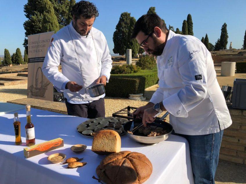 El vinagre de Columela, protagonista de la receta de cordero preparada por Antonio Bort y Jorge Manfredi de Ispal. Foto: CosasDeComé.