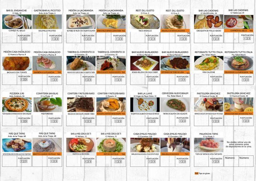 Propuestas gastronómicas de cada uno de los establecimientos participantes. Foto: CosasDeComé.