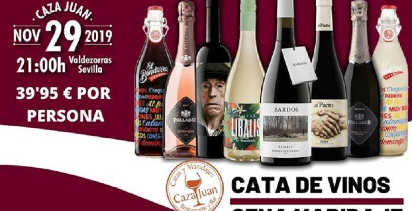 Cata de vinos-cena maridaje. 29 de noviembre. Sevilla.