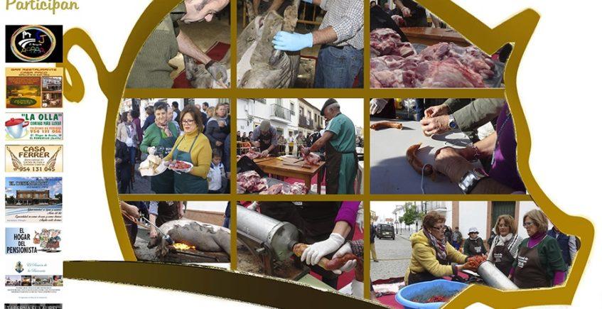 El Ronquillo rinde culto a sus tradiciones con una jornada gastronómica dedicada a la matanza del cerdo