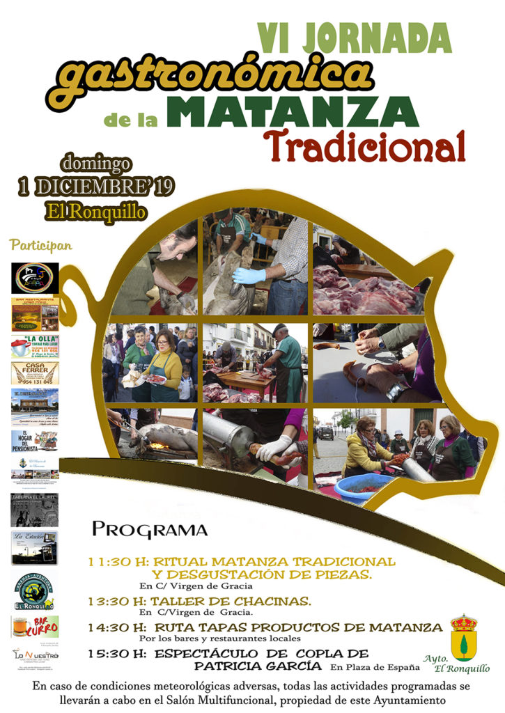 Cartel anunciador de la VI Jornada Gastronómica de la Matanza Tradicional. Foto cedida por el Ayuntamiento.