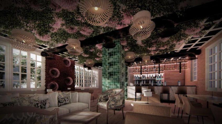 Poxao tiene capacidad para unos 120 comensales y su decoración ha corrido a cargo de Germán Vera. Foto cedida por el establecimiento.