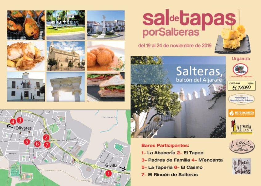 Cartel anunciador con la ubicación de los establecimientos participantes. Foto cedida por la organización.
