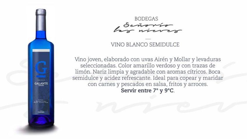 El blanco semidulce Galante, otra de las novedades de Las Nieves. Foto cedida por la cooperativa.