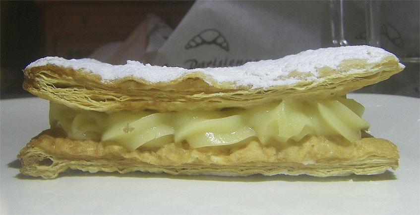 El milhojas de crema de La Parissiene