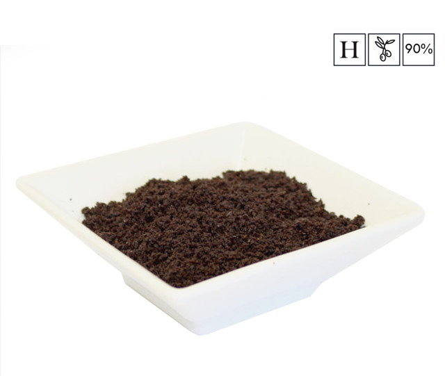 La harina de aceituna, uno de los productos más llamativos. Foto cedida por Atalaya Agroalimentaria.