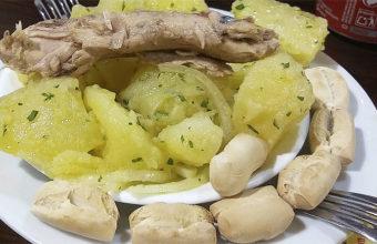 Las papas aliñás con melva de la bodega Soto